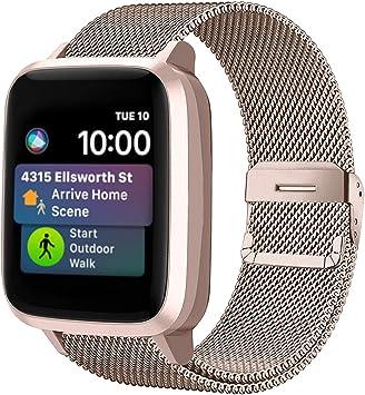 Funbiz Metal Correa Compatible con Apple Watch 38mm 40mm 42mm 44mm, Pulsera de Repuesto de Acero Inoxidable para iWatch Series SE 6 5 4 3 2 1, 38mm/40mm-Champán: Amazon.es: Electrónica