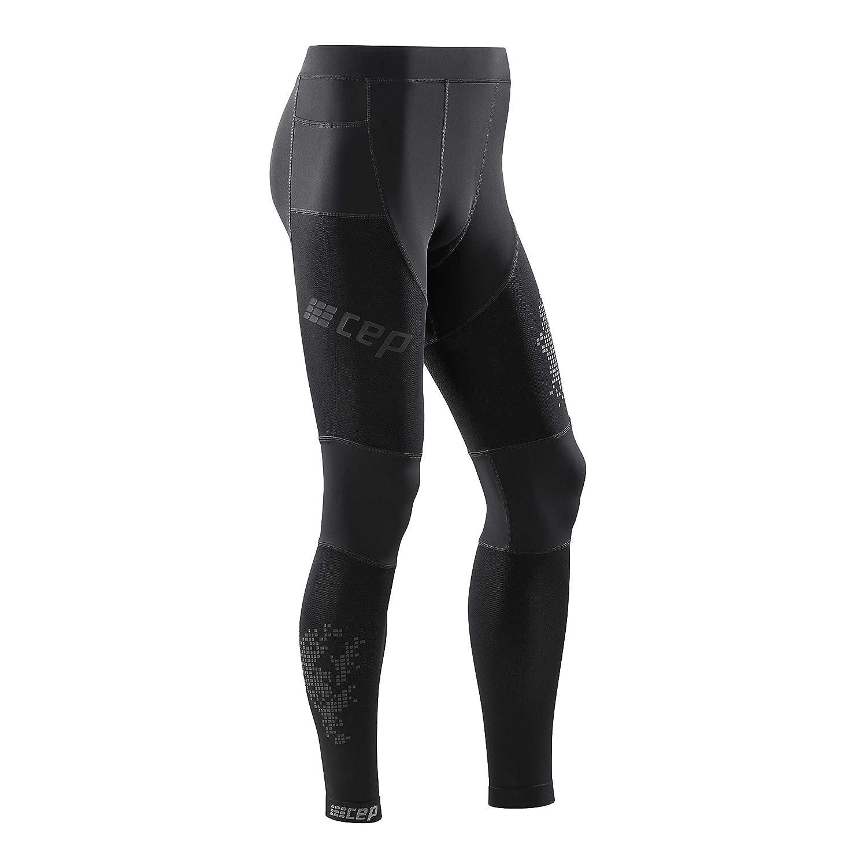 CEP - Run Tights 3.0 Laufhose in schwarz für Herren, extrem funktionale und Bequeme Sportleggins, Made by medi