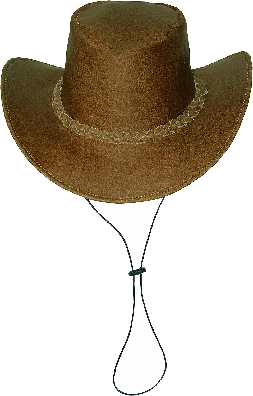 Cowboyhut aus Rindsleder mit Kinnriemen Black Jungle Broome