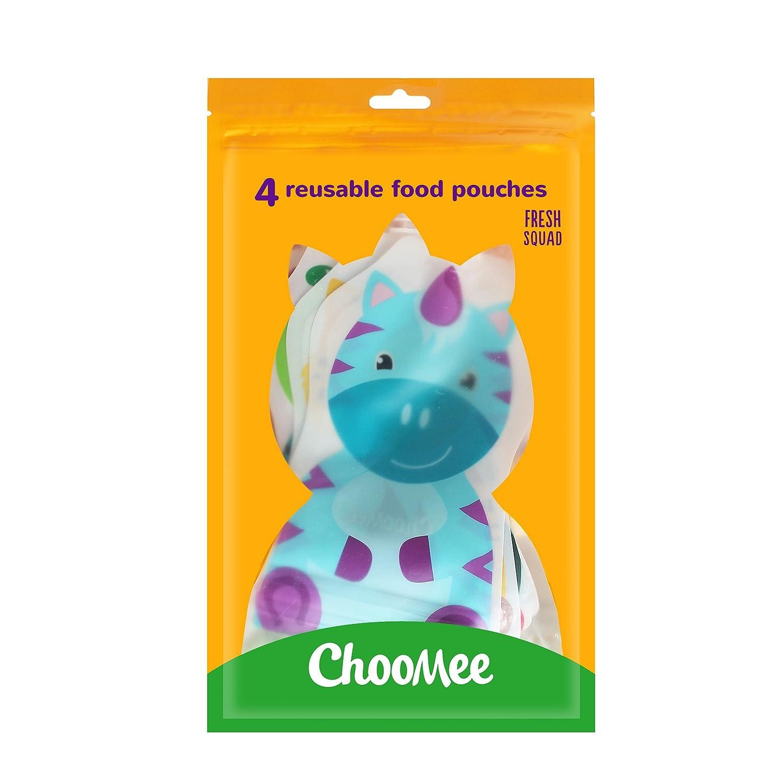 ChooMee Wiederverwendbare Baby Lebensmittel Quetschbeutel 5 Unzen 4 Beutel