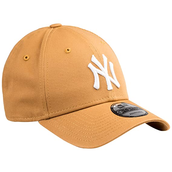 99cf18edb375 New Era New York Yankees 9forty Adjustable Cap League Essential Wheat White  - Einheitsgröße
