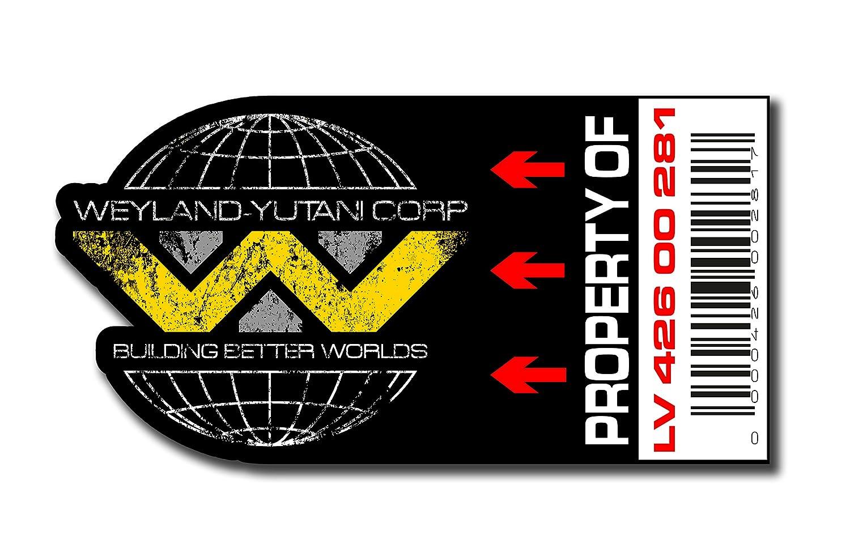 Asset Día–Property of Juego de Weyland Yutani Pegatinas de PVC, Set, diseño: Impresión Digital, 12unidades)