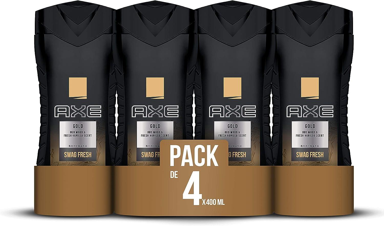 Axe Gel Gold - 4 Paquetes de 400 ml - Total: 1600 ml: Amazon.es ...