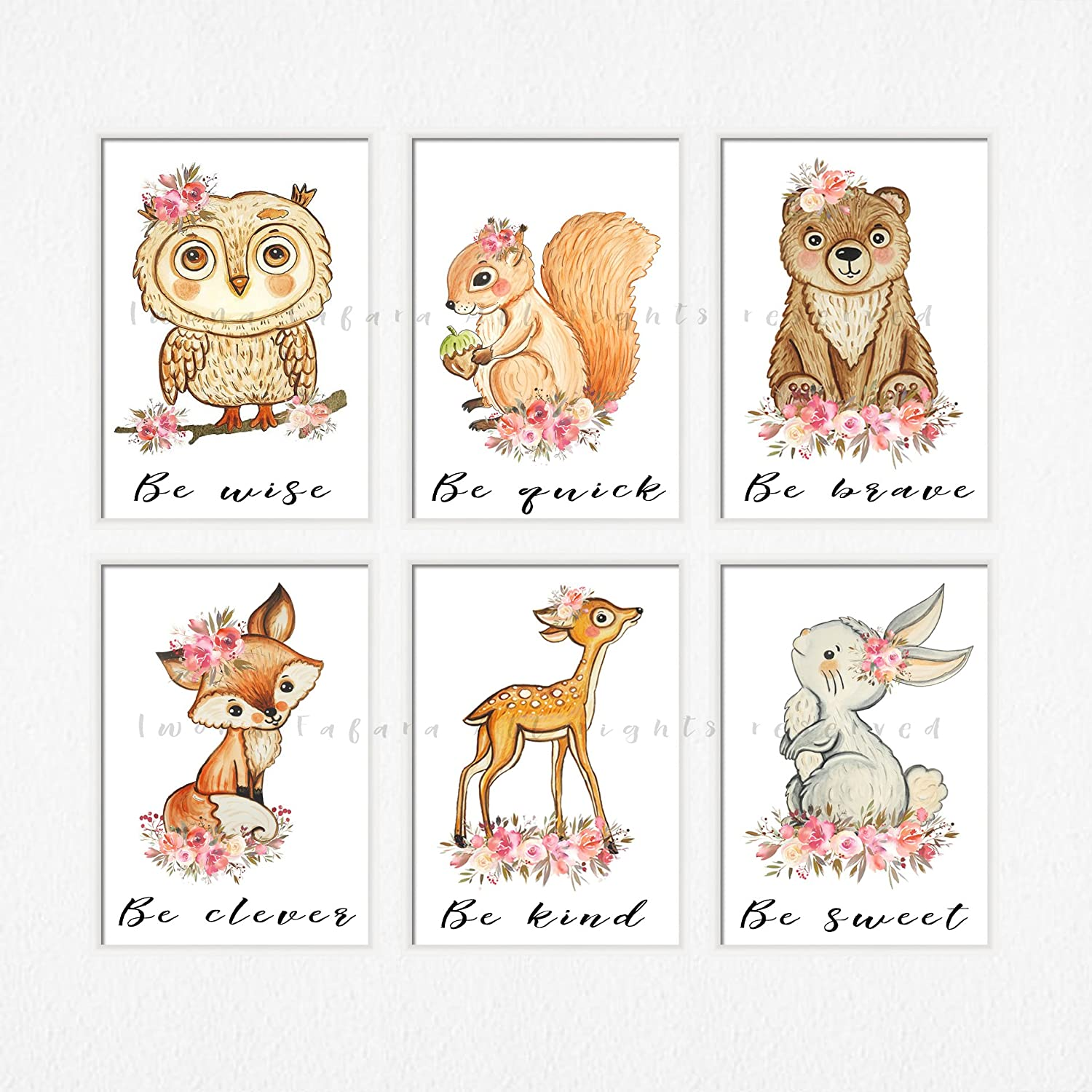 picture about Printable Animal Pictures named : Woodland creature nursery artwork Woodland pets