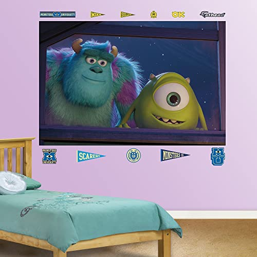FATHEAD Monsters University Mike and Sulley Window Mural