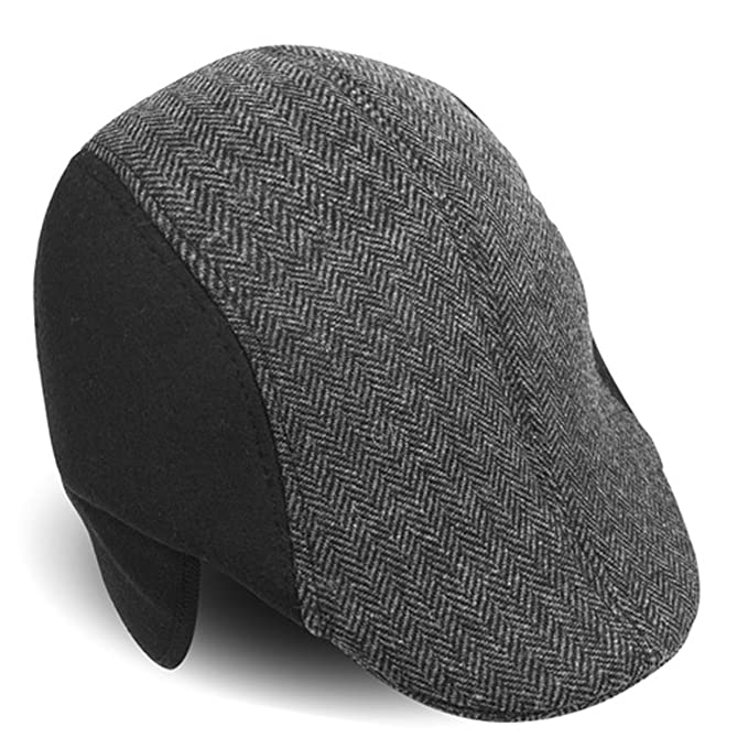 9f39a75780d0f8 Amazon.com: Fall/Winter Traditional Leather IVY Hat With Ear Flaps: Clothing
