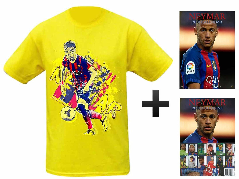NEYMAR Jnr 2018 Kalender & T-Shirt Geschenk Set Neymar de Santos CAL NEYMAR JNR T-SHIRT 2017