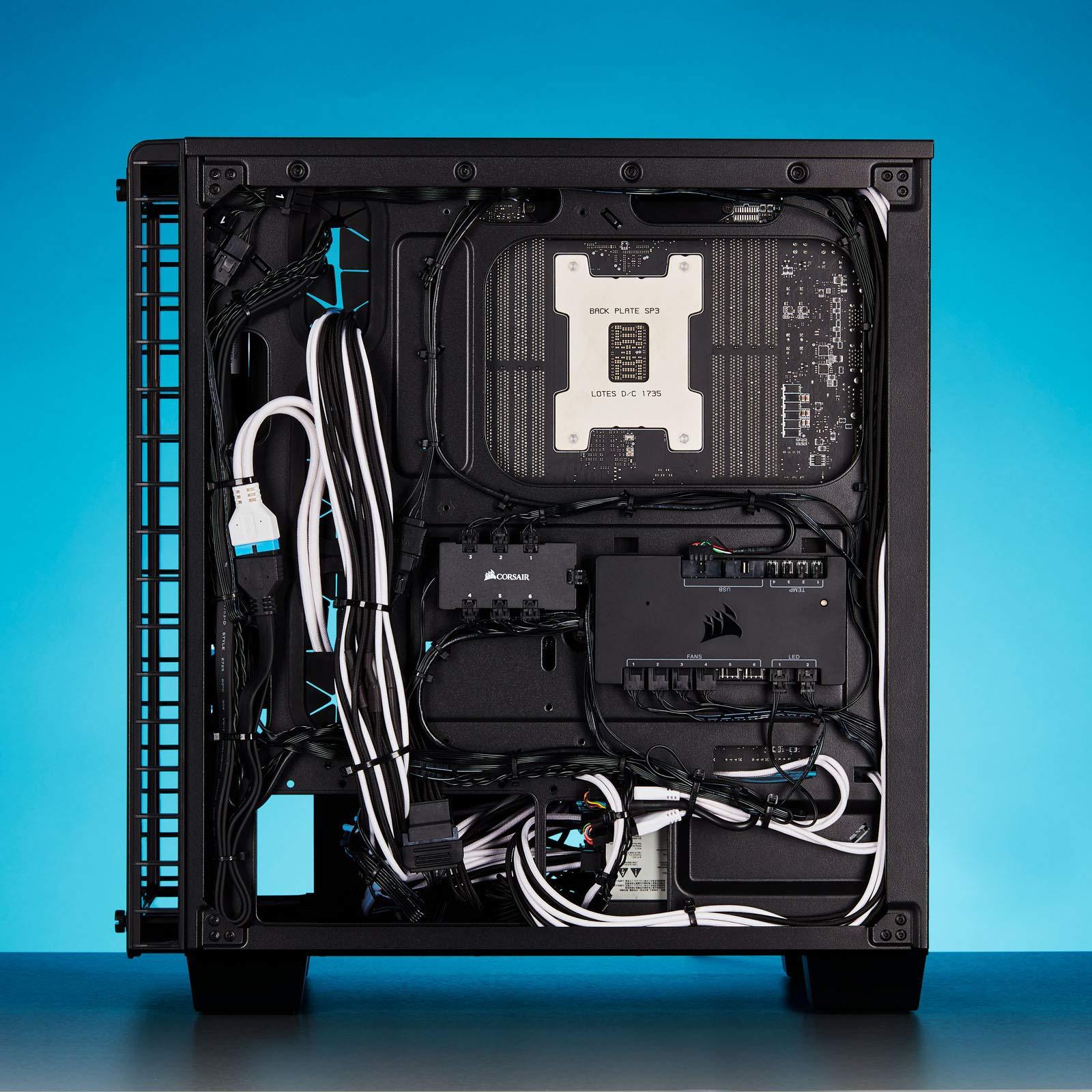 CORSAIR Premium Individually Sleeved PSU Cables Starter Kit - Black, 2 Yr Warranty, for Corsair PSUs by Corsair (Image #13)