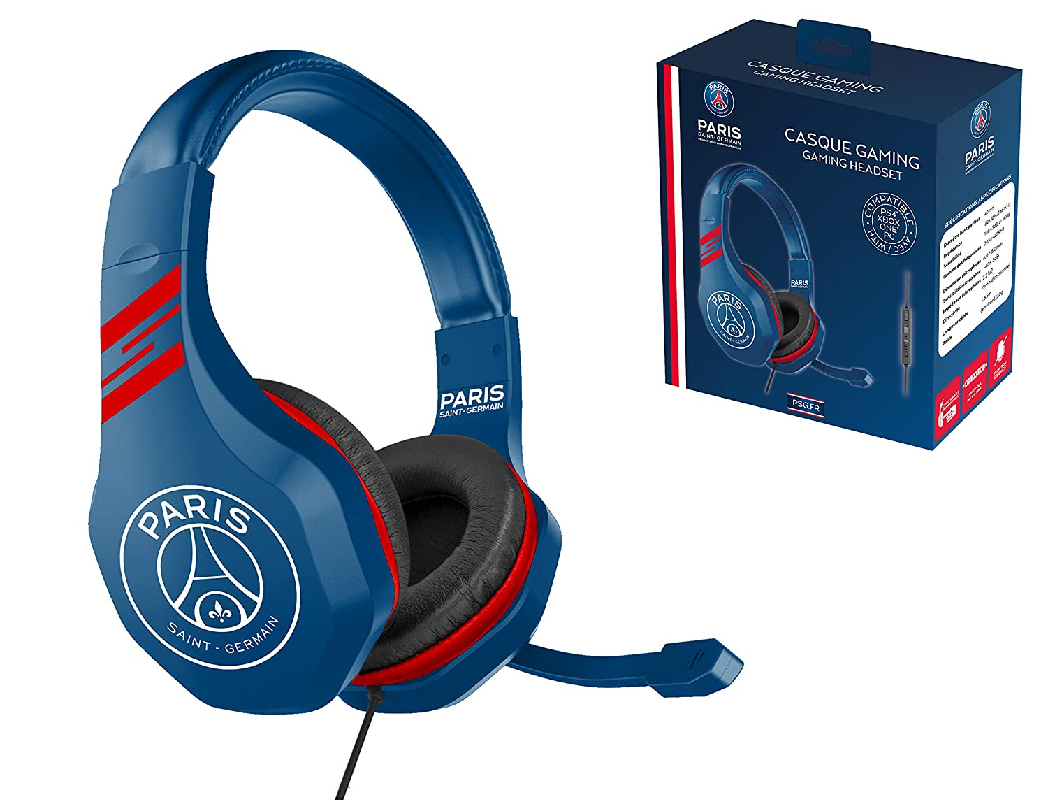 PSG Paris Saint Germain Auriculares gaming accesorio PS4, PS4 Pro, Xbox One, PC: Amazon.es: Videojuegos