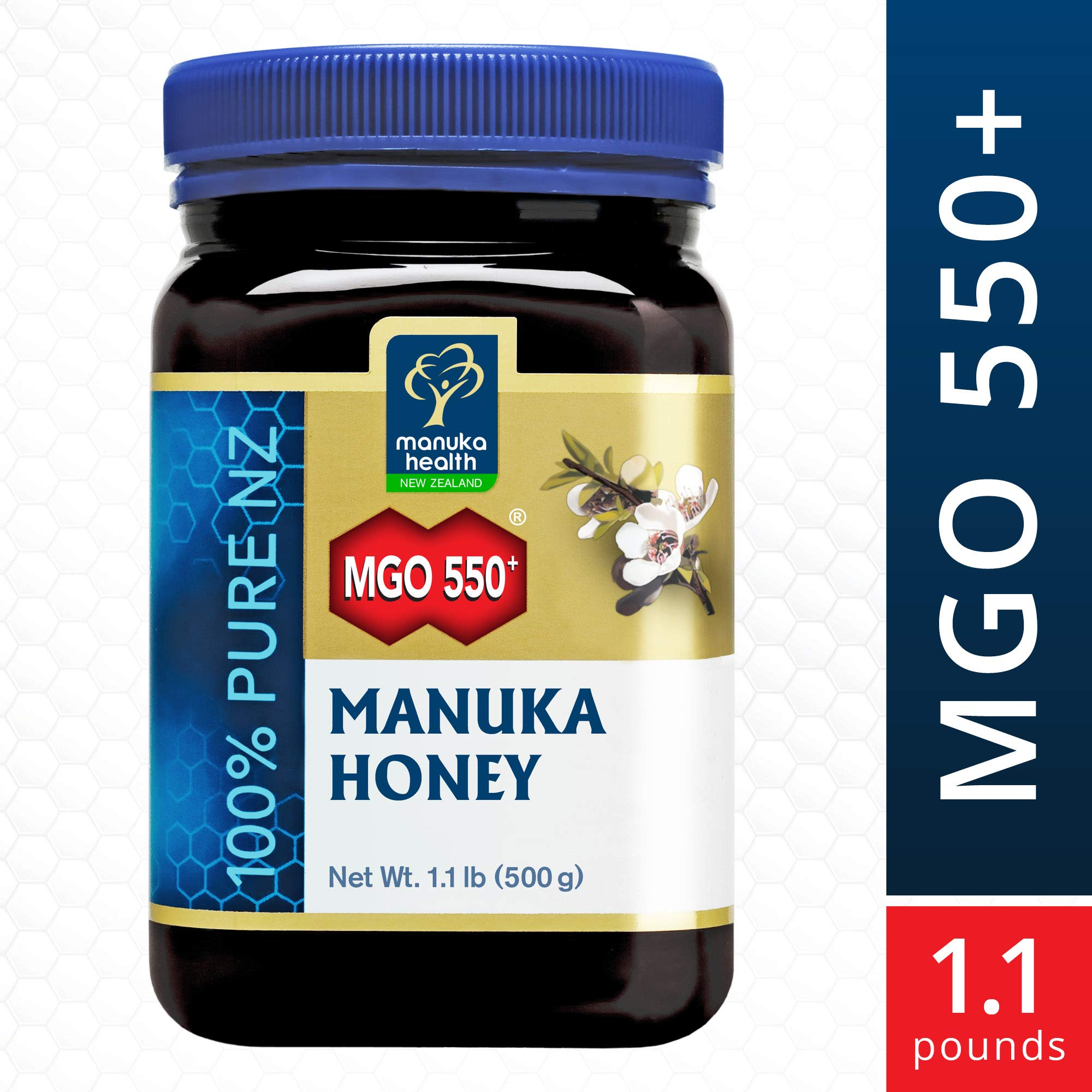 Manuka Honey - MGO 550+ Manuka Health, 100% Pure New Zealand Honey, 1.1 lbs by Manuka Health (Image #1)