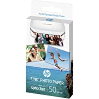 HP Zink Carta fotografica autoadesiva per Sprocket, 50 Fogli, 5 x 7,6 cm
