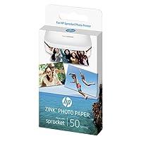 HP ZINK Papier Photo (50 feuilles, 5 x 7,6 cm, dos autocollant)