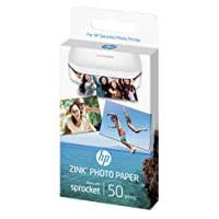 HP ZINK Fotopapier (50 Blatt, 5 x 7.6 cm, selbstklebende Rückseite)