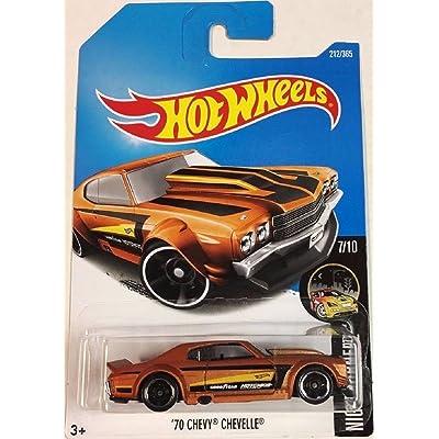 Hot Wheels 2020 Nightburnerz '70 Chevy Chevelle 212/365, Orange: Toys & Games