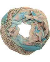 Weicher Loop Schal für Damen Schlauchschal mit vielen Motiven und Farben ein Halstuch als perfektes Accessoire Rundschal DL01
