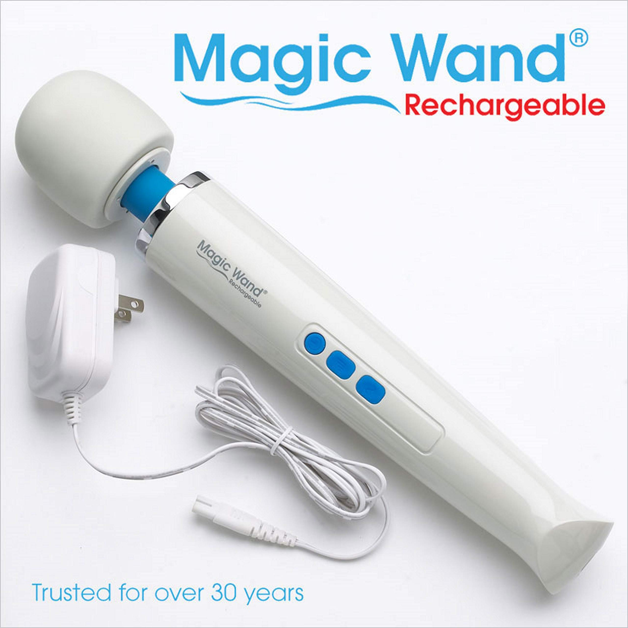 Original Magic Wand Rechargeable Cordless HV-270 by Vibratex with Free IntiMD Active Personal Trigger Pin Point Massager by IntiMD