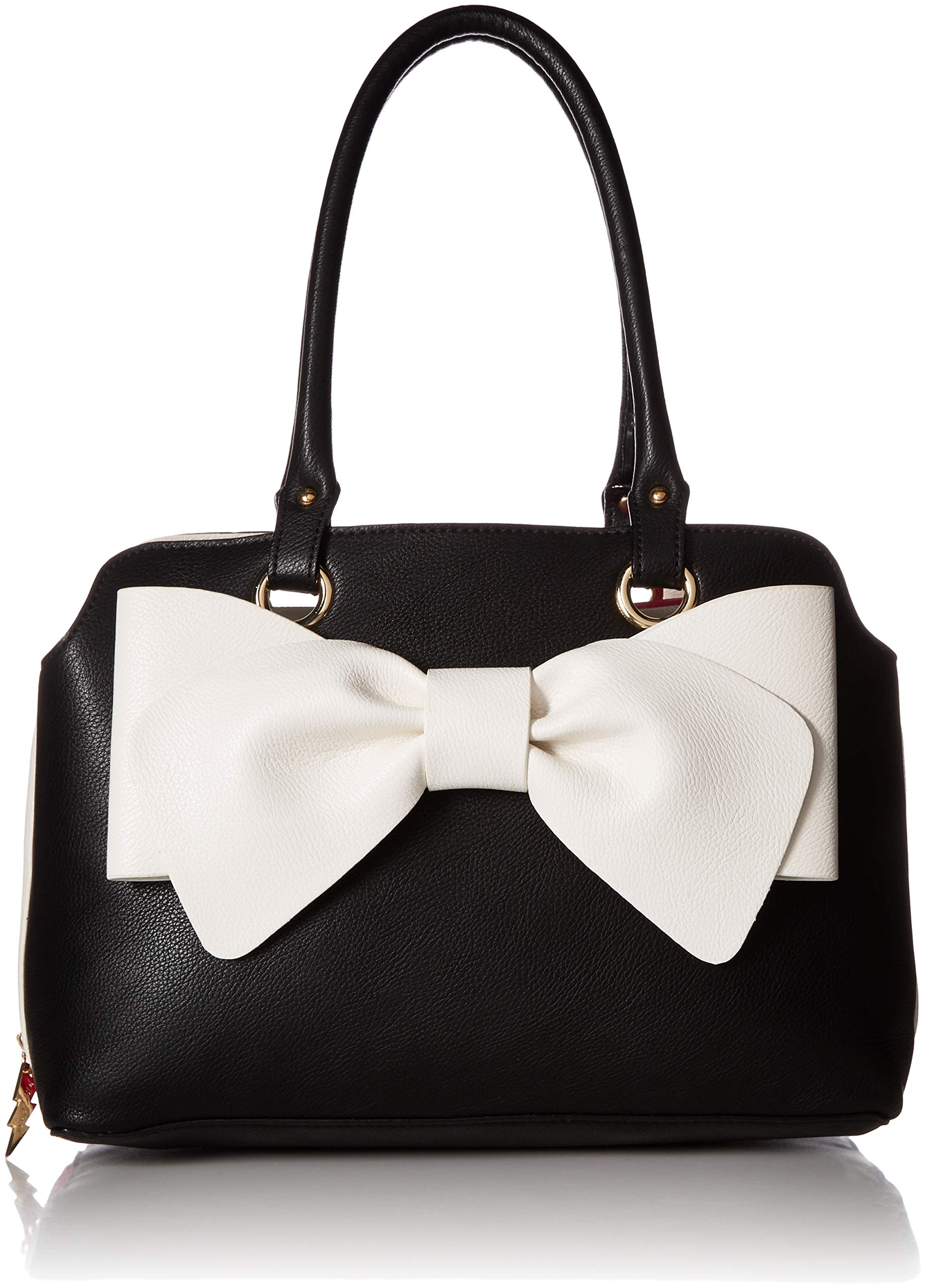 Betsey Johnson Pop Collar Satchel, Black