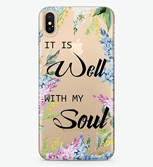separation shoes 3212a 0be23 Amazon.com: Hanogram It is well with my soul - iPhone X Case: Cell ...
