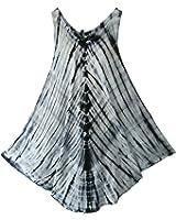 Pikulla Half Moon Sleeveless Women's Tie Dye Coco-L Multicoloured Dress X-Large