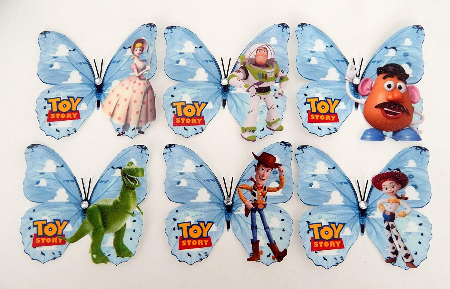 Toy Story Decorations 3d Toy Story 3d Butterflies Buzz Light Year Woody Bo Beep Children S Bedroom Decor Unique To Flutterframes Amazon Co Uk Handmade