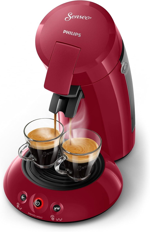 Philips Cafetera Senseo New Original, Elección de crema Plus, grosor de café, color negro rojo oscuro: Amazon.es: Hogar
