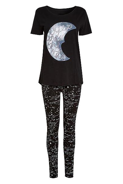 next Mujer Pijama con Leggings De Luna Monocromo XL