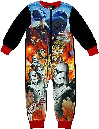 Niño Star Wars Batalla Guardia de asalto Darth Vader Microfleece Pijama Enterizo tallas desde 2 a 8 Años