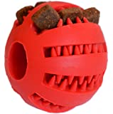 Zenify Puppy Toys Dog Toy Puppy Treat Training Behaviour Ball - Interactive Stimulation Gift for Smarter Dogs and Puppies (Red (Small))