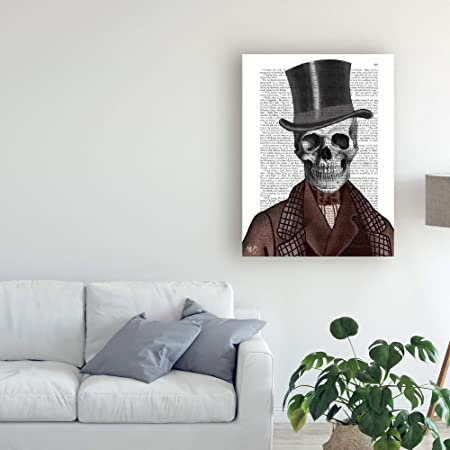 Amazon.com: Trademark Fine Art Skeleton Gentleman and Top ...