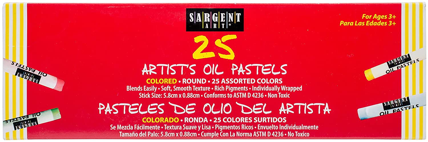 Sargent Art 22-2018 25 Count Oil Pastels, Assorted