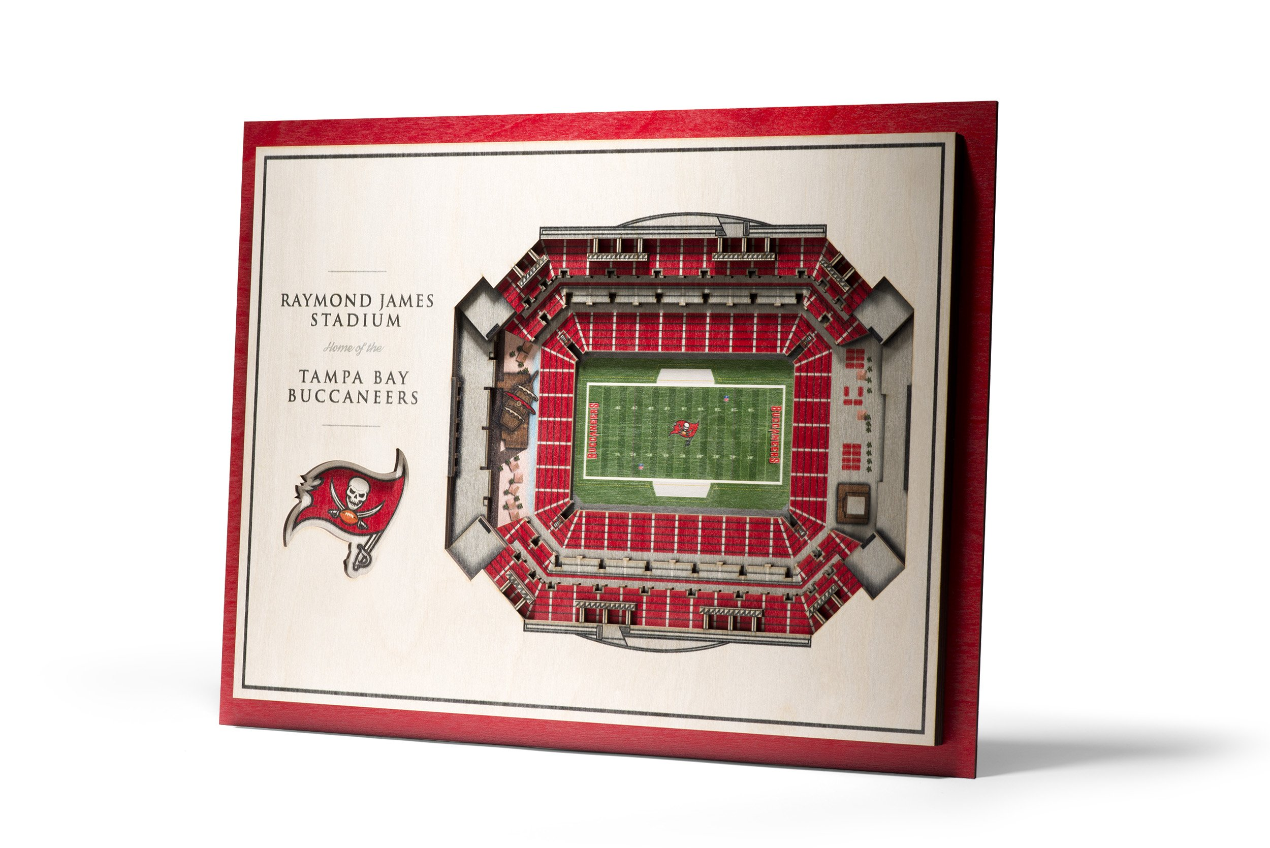 NFL Tampa Bay Buccaneers 5-Layer Stadiumviews 3D Wall Art by YouTheFan