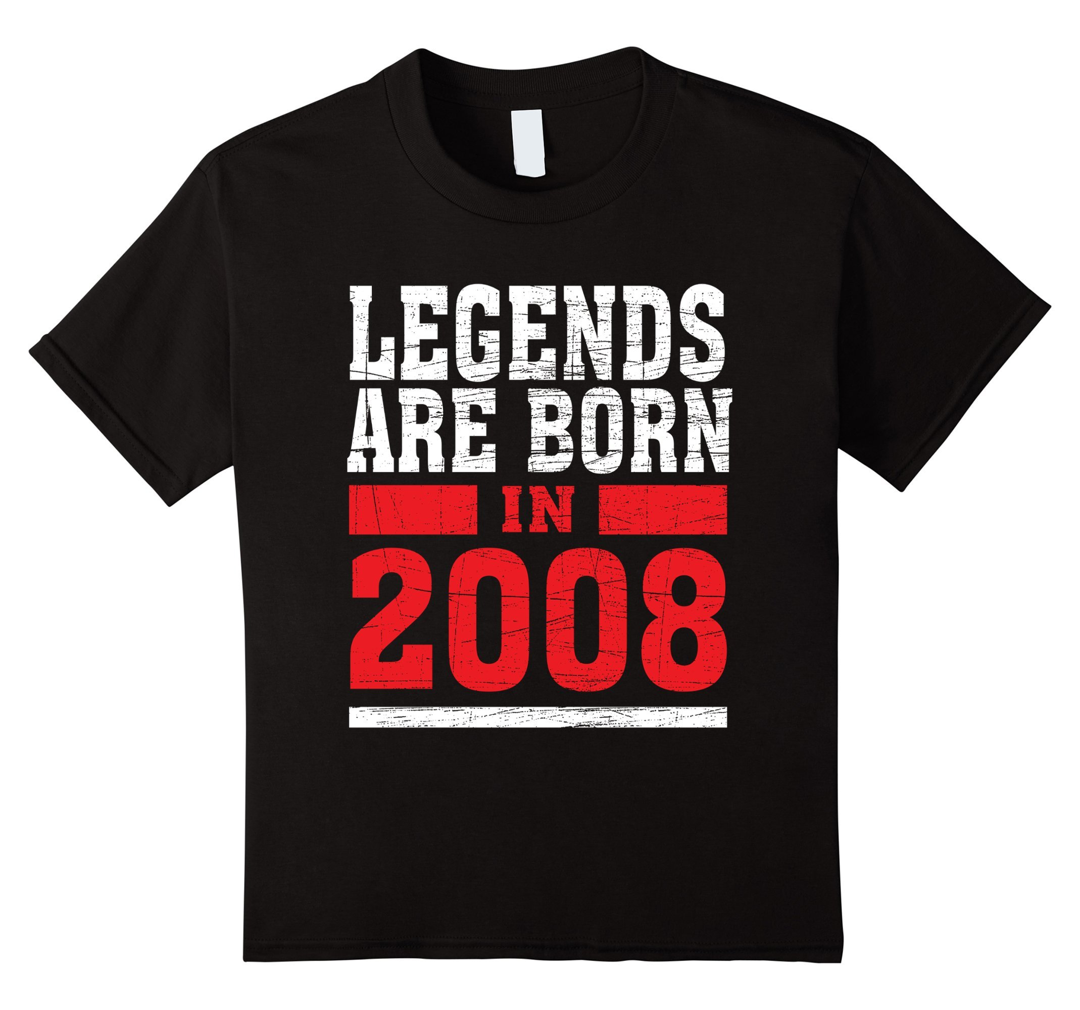 Kids Legends Born in 2008 10 years old 10th Birthday B-day Gift t 12 Black