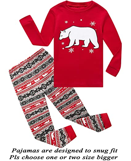 Amazon Com Little Pajamas Christmas Reindeer Little Boys Girls · Girls  Christmas Pjs 42960a596