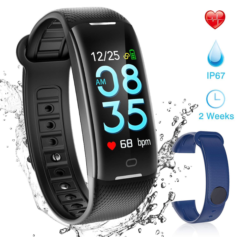 AGPTEK Pulsera Actividad Inteligente Impermeable para Hombre y Mujer, H01 Reloj Inteligente con Correa Cambio, Podómetro, GPS Soporta Monitor Presión ...