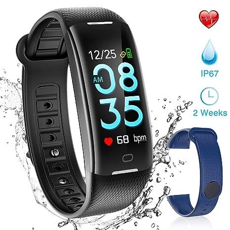 AGPTEK Montre Connectée Cardiofréquencemètre Bracelet Connecté ...