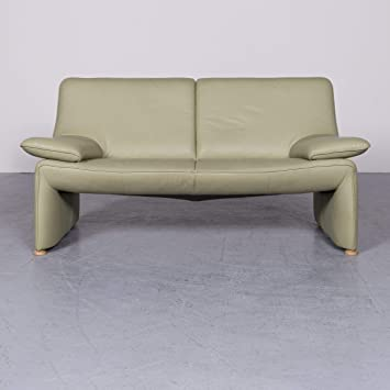Laauser Flair Designer Leder Sofa Grun Echtleder Zweisitzer Couch
