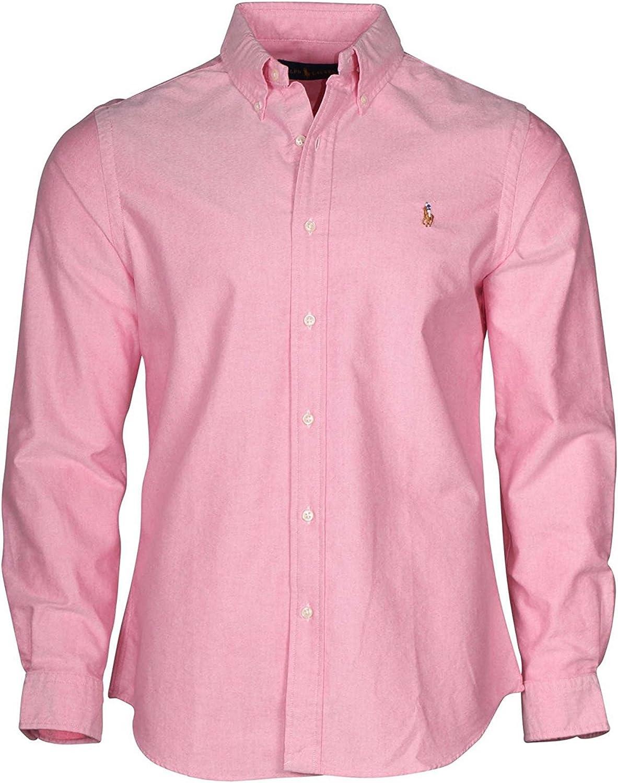 Polo Ralph Lauren Mens Long Sleeve Oxford Button Down Shirt (X-Small)