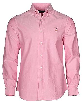230251fe1 Amazon.com  Polo Ralph Lauren Mens Long Sleeve Oxford Button Down Shirt  (X-Small)  Clothing