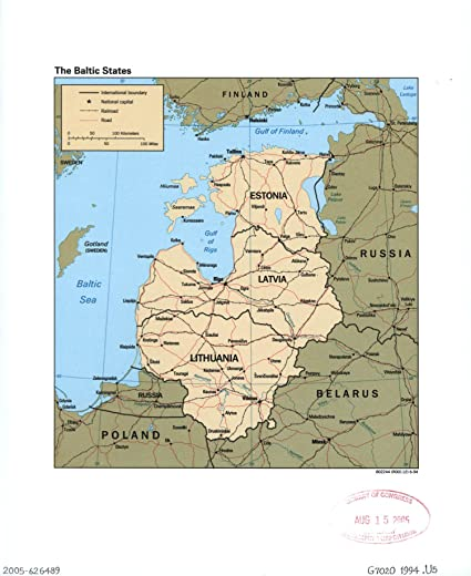 Amazon.com: Map Poster - The Baltic States. 24 X 20: Posters & Prints
