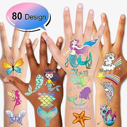 Amazon.com: Konsait - Tatuajes temporales para niños (80 ...