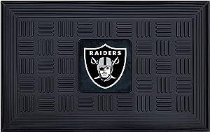 FANMATS 11461 NFL - Las Vegas Raiders Vinyl Medallion Door Mat 19.5 in. x 31 in.