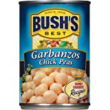 BUSH'S BEST Canned Garbanzo Beans (Chickpeas) (Pack of 12), Source of Plant Based Protein and Fiber, Vegetarian, Low Fat & gluten Free, 16 oz