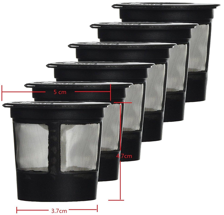 ourbest 6Solo Kaffee POD Filter kompatibel mit Keurig K Tasse Kaffee system-reusable Kaffee Filter