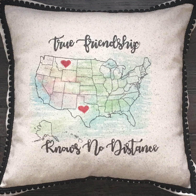 Friendship pillow,valentines day, best friends, long distance,15x15
