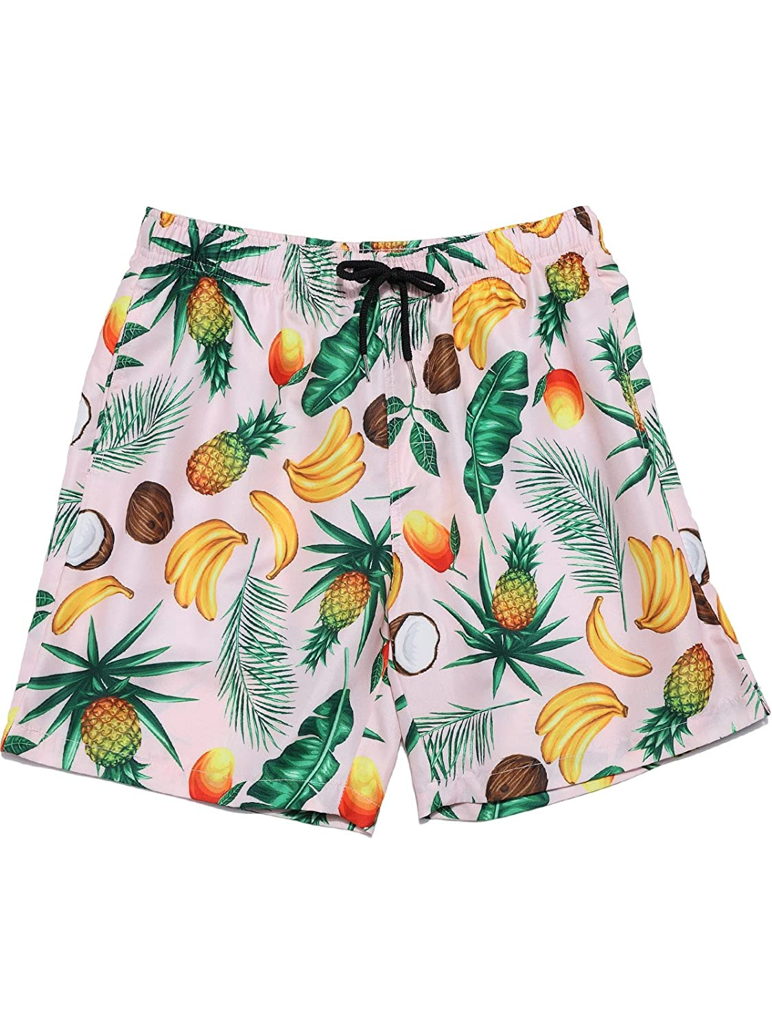 e3aa2bbf4f The swim shorts is hit right above your knee but do not look short. All of  Hopioneer\'s board shorts printed tropical pattern.