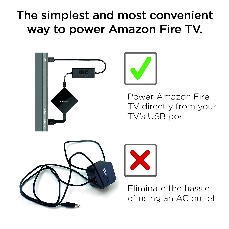 amazon com mission usb power cable for amazon fire tv eliminates rh amazon com