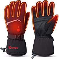 SAVIOR HEAT 2020 Upgrade Electric Heated Gloves for Men Women, Rechargeable Battery Operated Thermal Control Ski Gloves…