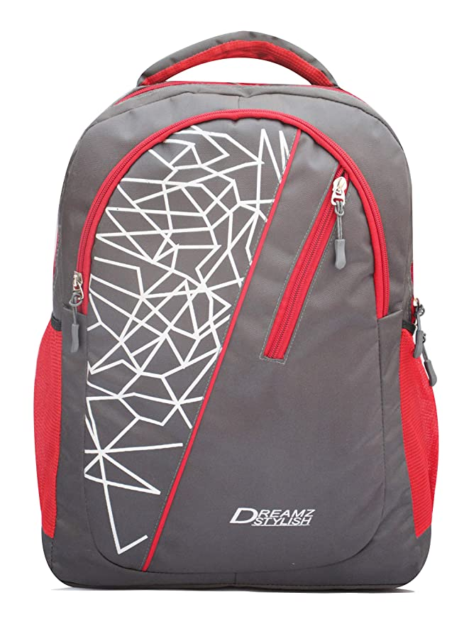 DREAMZ STYLISH 26 Ltrs Polyester Casual Grey backpack/School Bags/Laptop Bags Laptop Backpacks