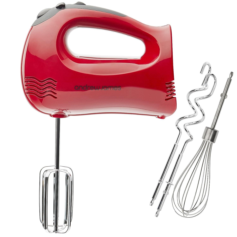 food mixer shop amazon uk andrew james professional red hand mixer bonus balloon whisk 300 watt