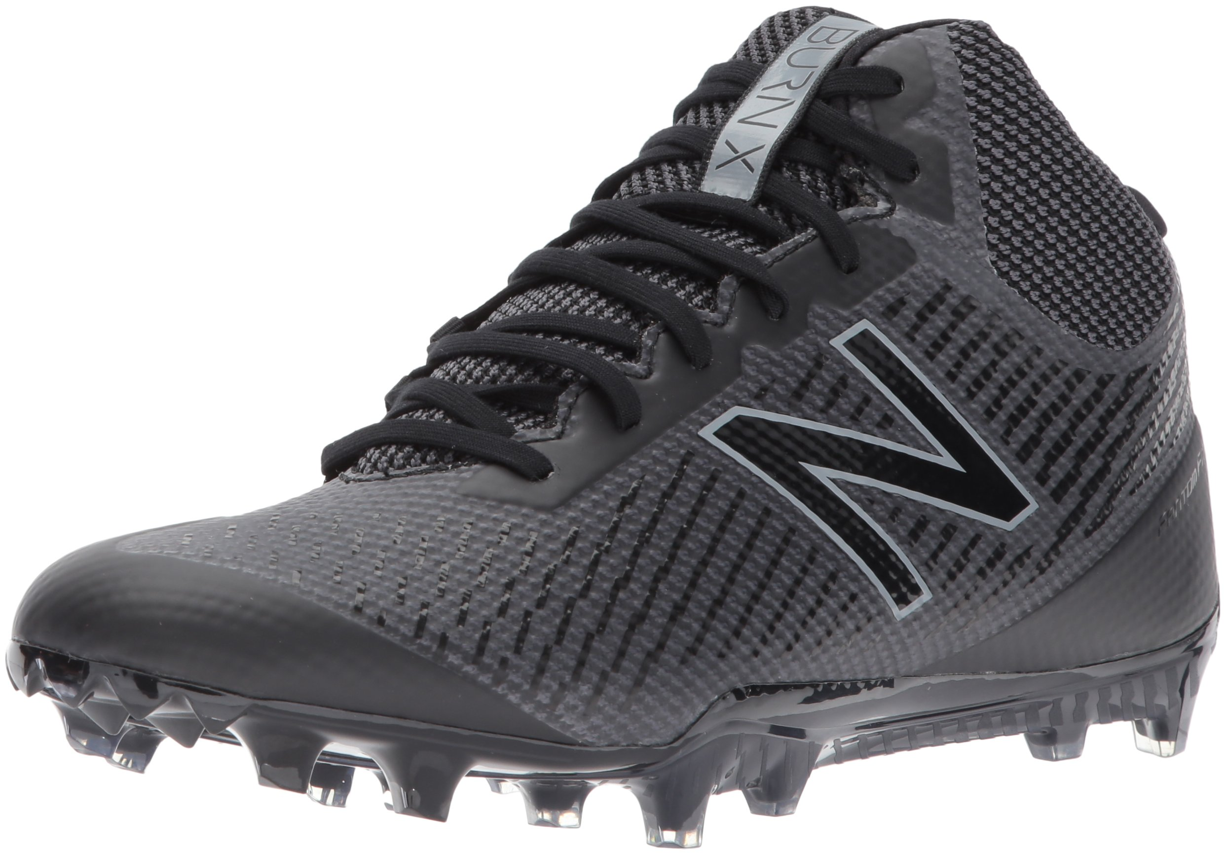New Balance Men's BURN Mid Speed Lacrosse Shoe, Black, 7.5 D US by New Balance